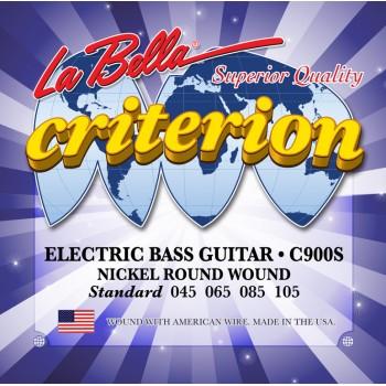 C900S Criterion Комплект струн для 4-струнной бас-гитары 45-105 - La Bella
