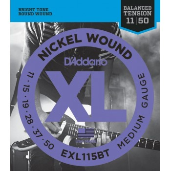 EXL115BT Nickel Wound Комплект струн для электрогитары Medium, 11-50 - D'Addario