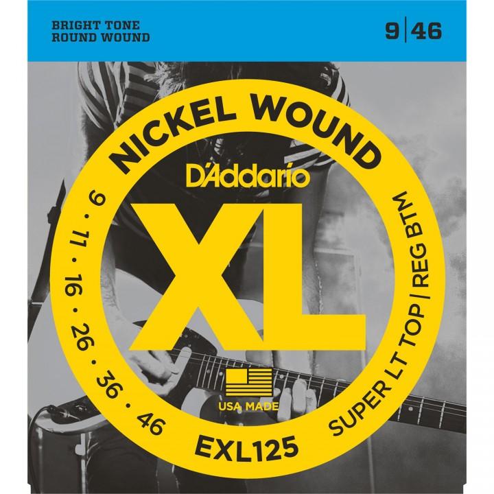 EXL125 XL Струны для электрогитары - D`Addario (9-46)