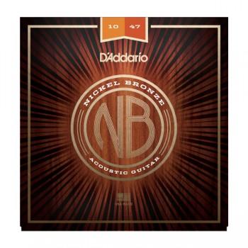 NB1047 Nickel Bronze Комплект струн для акустической гитары - D'Addario