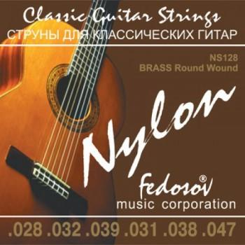 NS128 Brass Round Wound Комплект струн для классической гитары, нейлон/латунь - Fedosov