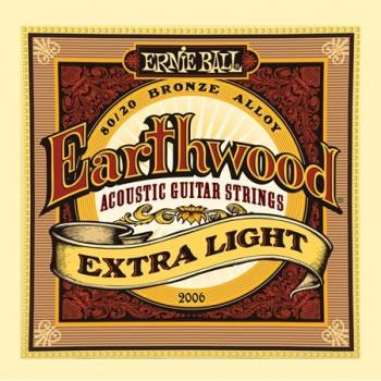 P02006 Earthwood Extra Light Комплект струн для акустической гитары - Ernie Ball