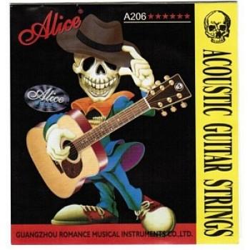 A206-SL Набор струн для акустической гитары - Alice