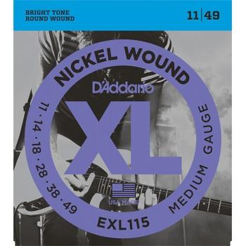 EXL115 XL NICKEL WOUND Струны для электрогитары Blues/Jazz Rock 11-49 - D'Addario