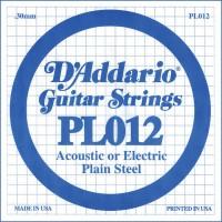 PL012 Plain Steel Отдельная струна без обмотки 0.30 мм - D'Addario