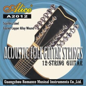 A2012 Комплект струн для 12-струнной гитары медь - Alice