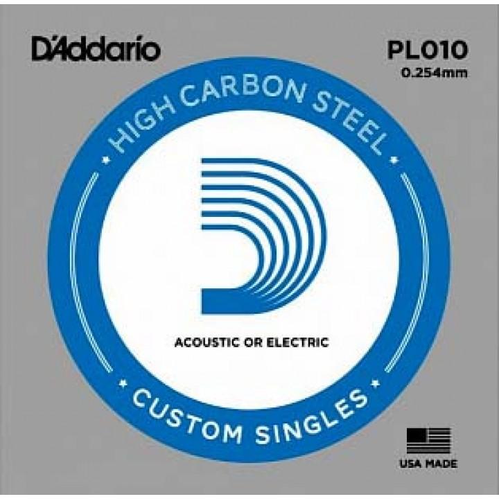 PL010 Одиночная струна - D'ADDARIO