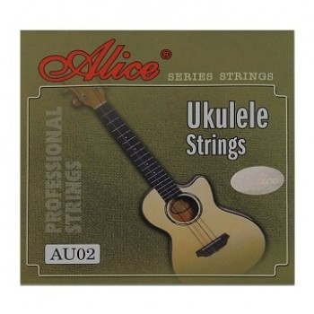 AU02 Комплект струн для укулеле, черный нейлон - Alice