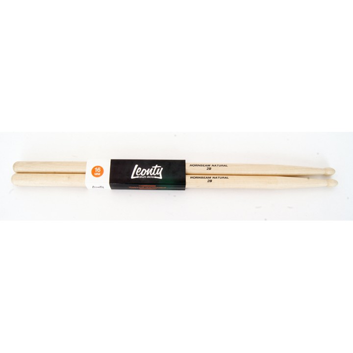 L2BW Hornbeam Natural 2В Барабанные палочки, граб, деревянный наконечник - Leonty