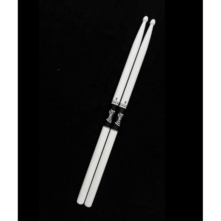 LW5BW 5B Барабанные палочки, граб, деревянный наконечник, белые - Leonty