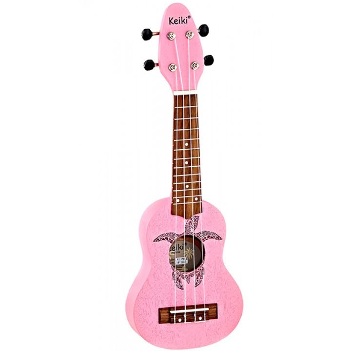 K1-PNK Keiki Укулеле сопранино, розовый - Ortega