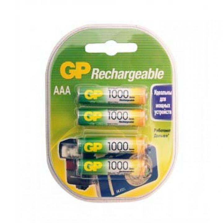 GP100AAAHC-2DECRC4 - Аккумуляторный элемент питания АAА, Ni-MH, 1000mAh, 4шт, GP