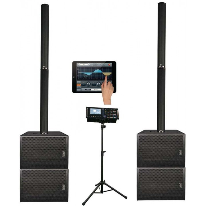 DLS122 Комплект акустических систем, сабвуфер, микшер - Soundking