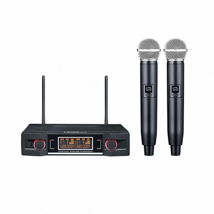 LS-P3-2M Двухканальная вокальная радиосистема, 2 ручных передатчика - LAudio