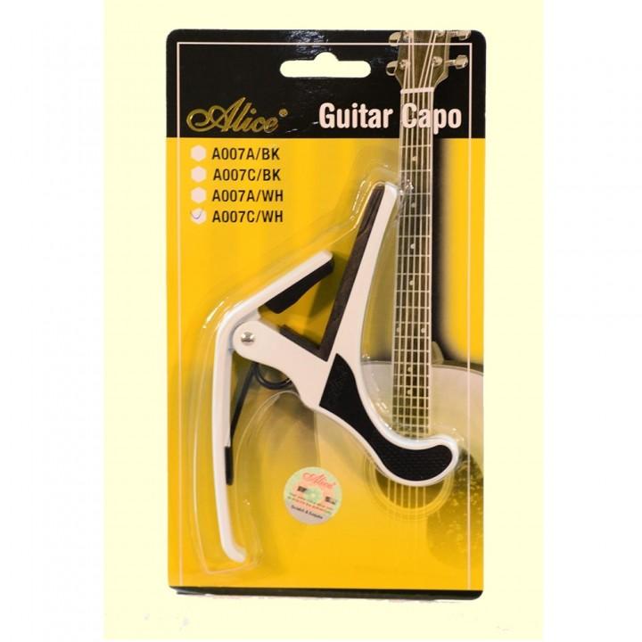 A007A/WH Каподастр для акустической гитары - Alice (белый)