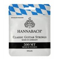 500MT Комплект струн для классической гитары, посеребренная медь, среднее натяжение - Hannabach