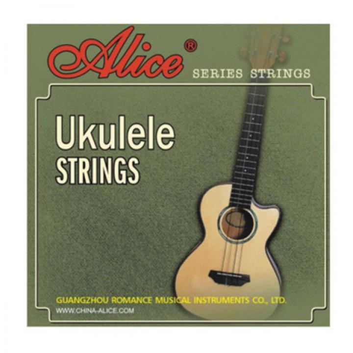 AU04 Комплект струн для укулеле, прозрачный нейлон - Alice - AU04