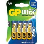 Элемент питания АА алкалиновый - GP15AUP-2CR4 Ultra Plus, 4шт