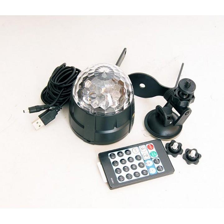 MM005U Светодиодный эффект «диско-шар» мини - Bi Ray (4х1Вт)