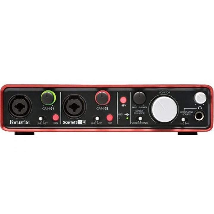 2i4 USB  Scarlett Звуковая карта - FOCUSRITE