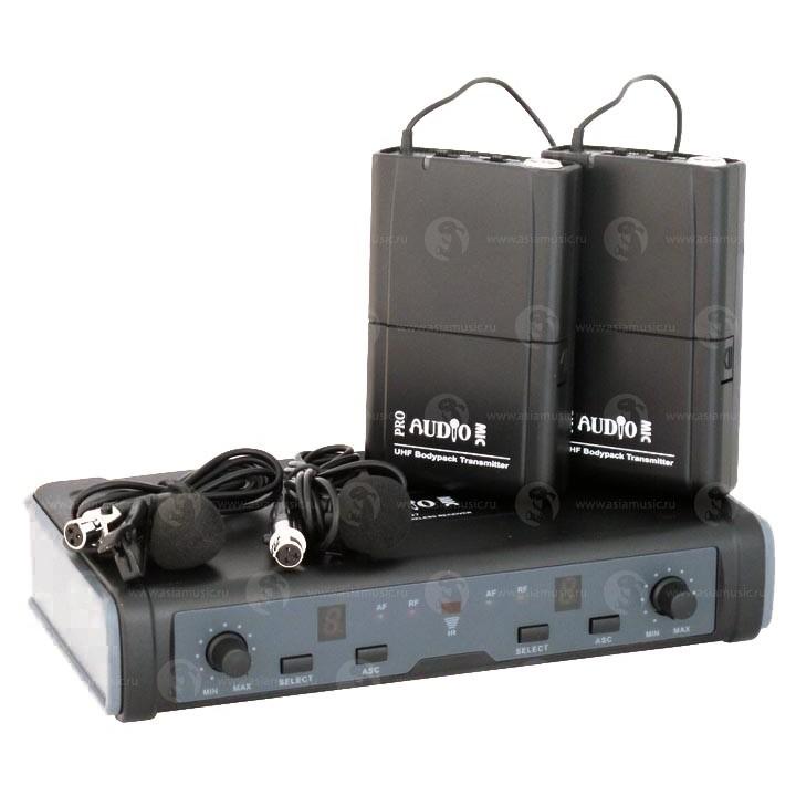 DWS-807PT Радиосистема с двумя петличными микрофонами - PROAUDIO
